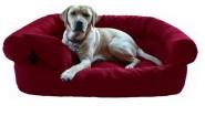 Hundebett PAULA robust aus Codura 120cm Bordeaux