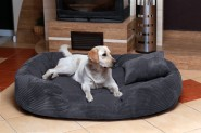 Hundebett PHILIP XXXL 170 cm Cord-Velours Graphit