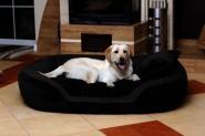 Hundebett PHILIP CORD-Velours XL 110cm SCHWARZ