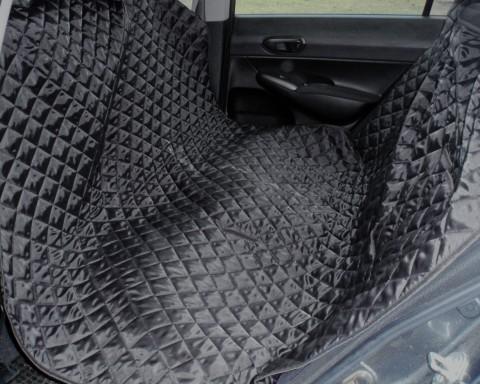 Autoschondecke, Autoschutzdecke, Hundedecke, mit Reißverschluß teilbar, 180 x 140 cm, Schwarz