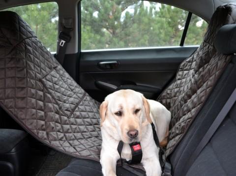 Autoschondecke, Autoschutzdecke, Hundedecke, mit Reißverschluß teilbar, 180 x 140 cm, Braun