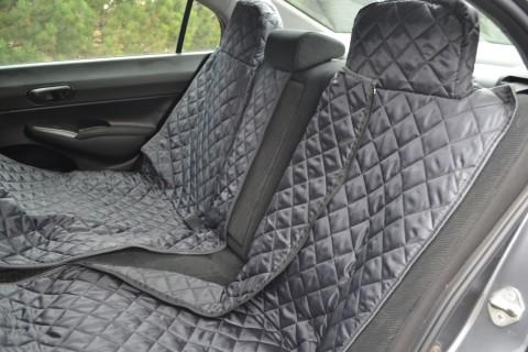 Autoschondecke, Autoschutzdecke, Hundedecke, mit Reißverschluß teilbar, 180 x 140 cm, Graphit