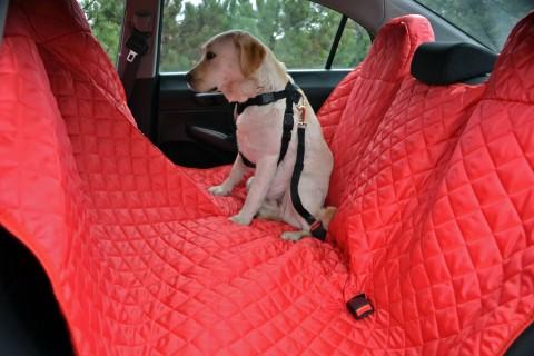 Autoschondecke, Autoschutzdecke, Hundedecke, 180 x 140 cm, Bordeaux-Rot