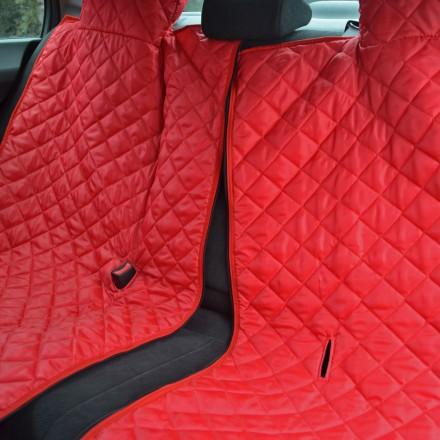 Autoschondecke, Autoschutzdecke, Hundedecke, mit Reißverschluß teilbar, 180 x 140 cm, Bordeaux-Rot