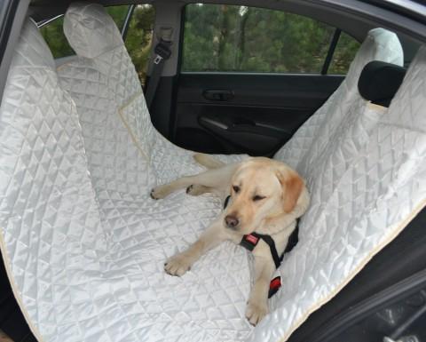 Autoschondecke, Autoschutzdecke, Hundedecke, 180 x 140 cm, Creme