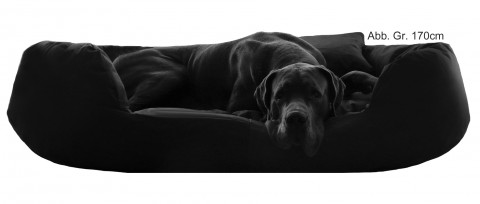 Hundebett SAMMY XXXL 170 cm Polyester 600D Schwarz XXXL   Schwarz