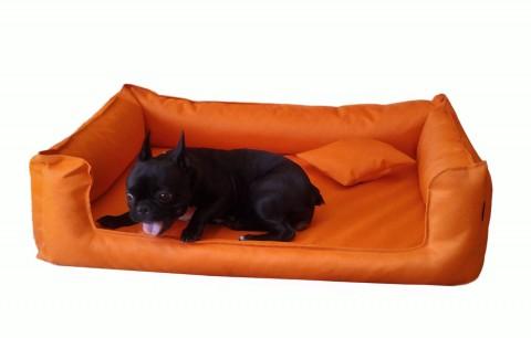 Orthopädisches Hundebett GOOFY VISCO M+ 90 cm Polyester 600D Orange M   Orange