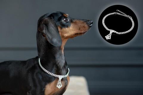 Halskette mit Strass-Steinen | Design 03 Krawatte