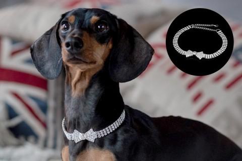 Halskette mit Strass-Steinen | Design 06 Schleife