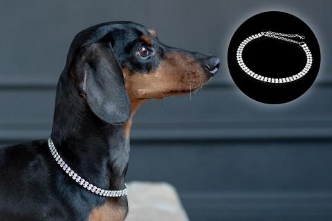 Halskette mit Strass-Steinen | Design 09 2 Reihen