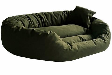 Hundebett ARES KOMFORT XL 110 cm Polyester 600D Olive Grün XL | Olive Grün