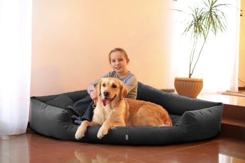 Orthopädisches Hundebett TRIVIA VISCO XL 120 cm Polyester 600D Graphit