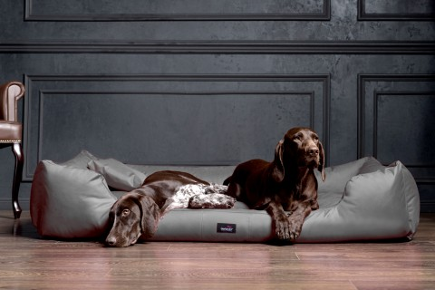 Hundebett MORITZ KOMFORT XL+ 130 cm | fest gewebtes Polyester | Graphit XL | Graphit