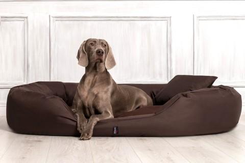 Hundebett SAMMY L 100 cm Polyester 600D Braun L | Braun