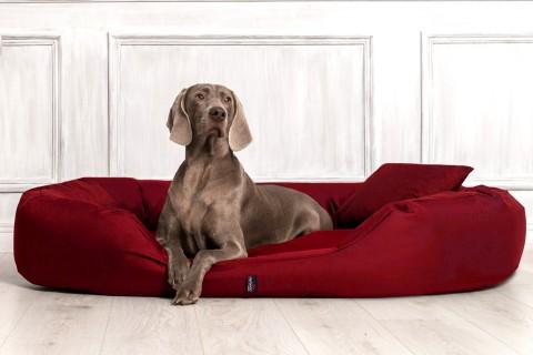 Hundebett SAMMY XXL 140 cm Polyester 600D Bordeaux-Rot XXL | Bordeaux-Rot