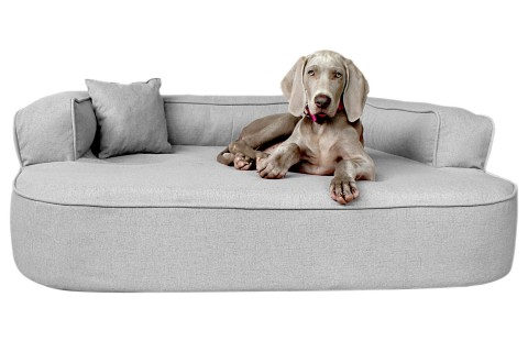 Orthopädisches Hundesofa LOTTE VISCO PLUS XL 120 cm Webstoff Mélange Grau XL | Grau