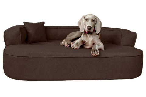Orthopädisches Hundesofa LOTTE VISCO PLUS XL 120 cm Webstoff Mélange Braun XL | Braun
