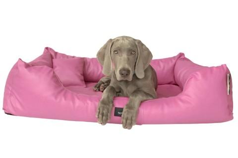 Hundebett MILEN M+ 90 cm komplett Kunstleder Rosa