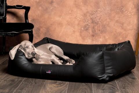 Orthopädisches Hundebett MILEN Kunstleder für Allergiker