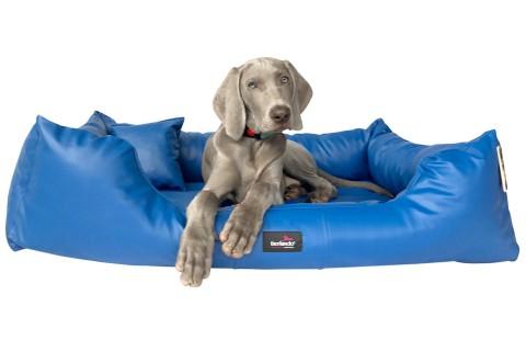 Hundebett MILEN L+ 110 cm komplett Kunstleder Blau