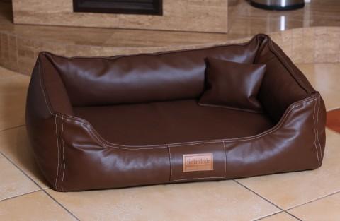 Hundebett MADDOX KOMFORT XL 120 cm Kunstleder Braun XL | Braun
