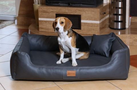 Hundebett MADDOX KOMFORT XL 120 cm Kunstleder Graphit XL | Graphit