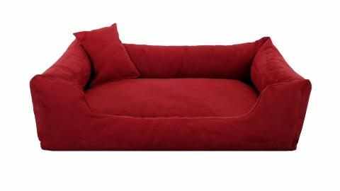 Hundebett MORITZ KOMFORT M+ 90 cm | fest gewebtes Polyester | Bordeaux-Rot M | Bordeaux-Rot