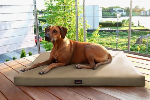 Orthopädische Hundematratze ALICE VISCO XXL 150 cm Polyester 600D Beige Dunkel XXL | Dunkel Beige