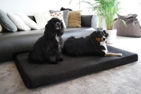 Orthopädische Hundematratze ANTON VISCO PLUS XXL 145x85x11 cm Polyester Mélange Anthrazit Schwarz XXL | Schwarz Anthrazit