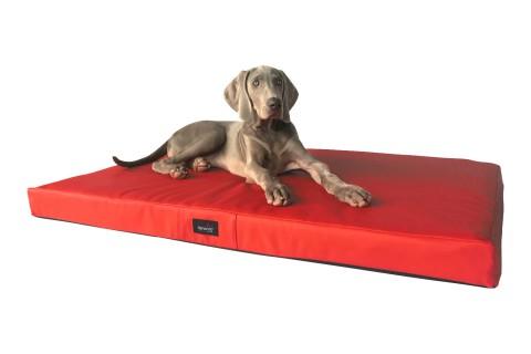 Orthopädische Hundematratze ALICE VISCO XL 120 cm Kunstleder Rot XL | Rot