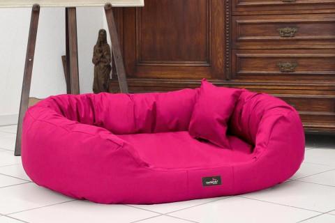 Hundebett ARES KOMFORT XL 110 cm Polyester 600D Pink