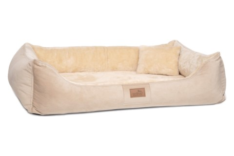 Ultraweiches orthopädisches Hundebett FLOYD High-Tech Velours / Plüsch L 100 cm Beige L | Beige