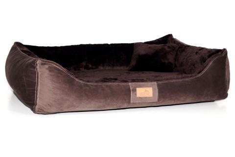 Ultraweiches orthopädisches Hundebett FLOYD High-Tech Velours / Plüsch XXL 150 cm  Braun XXL | Braun