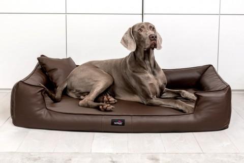 Orthopädisches Hundebett GOOFY VISCO XL+ 130 cm Kunstleder Braun