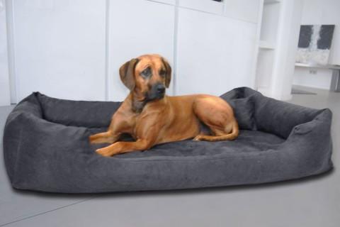 Orthopädisches Hundebett PLUTO VISCO XL 120 cm Velours Graphit