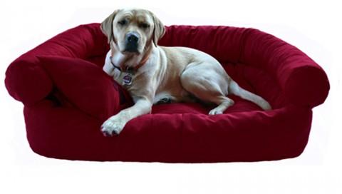 Hundebett PAULA XL 120 cm Polyester 600D Bordeaux-Rot