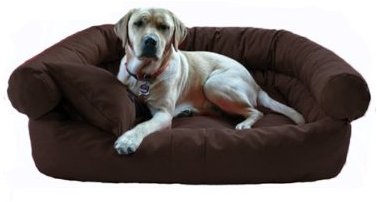 Hundebett PAULA L 100 cm Polyester 600D Braun