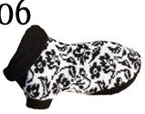 Hundepullover AmiPlay L 46 cm Schwarz-Weiss