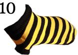Hundepullover AmiPlay XXS 20 cm Schwarz-Gelb gestreift