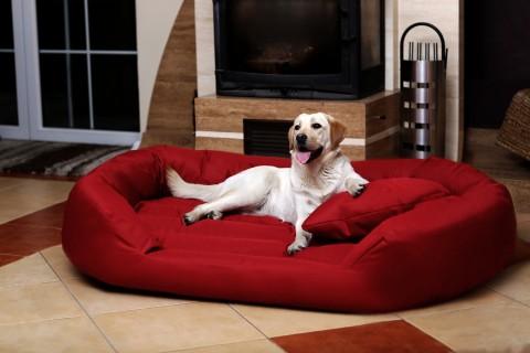 Hundebett SAMMY XXXXL 220 cm Polyester 600D Bordeaux-Rot XXXXL | Bordeaux-Rot