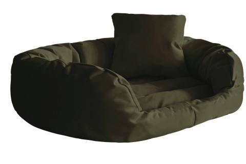 Hundebett SAMMY L 100 cm Polyester 600D Olive Grün
