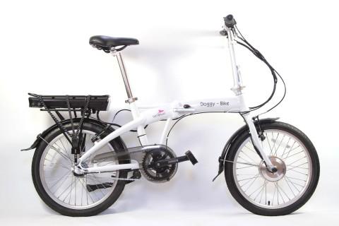 tierlando® DOGGY BIKE E-Faltbike weiß 20 Zoll
