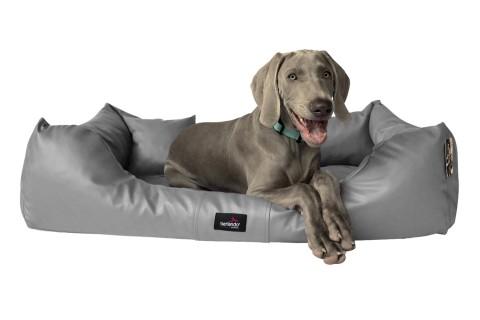 Hundebett MILEN L+ 110 cm komplett Kunstleder Grau