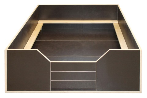 Welpen-Wurfbox/Wurfkiste aus Holz 150 x 150 cm