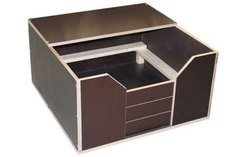 Welpen-Wurfbox/Wurfkiste aus Holz 80 x 80 cm