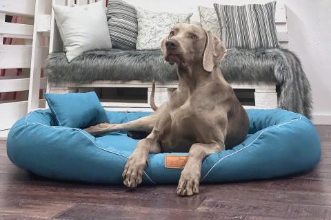 Orthopädisches Hundebett TIFFANY Couture XL | Petrol