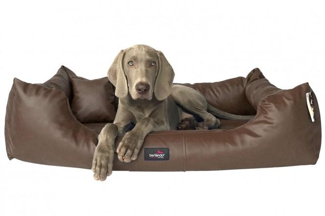 MILEN | Orthopädisches Hundebett L+ | Braun