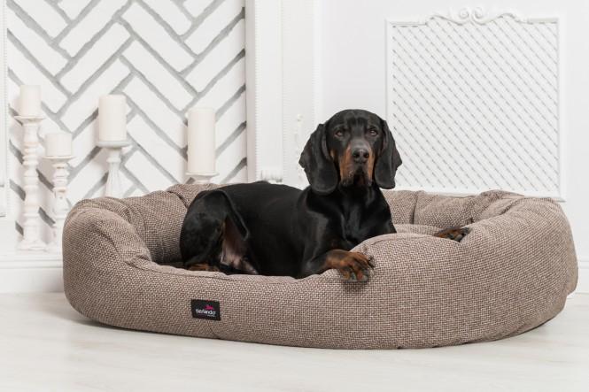 Orthopädisches Hundebett BALOU VISCO PLUS XL 110 cm Polyester Braun - XL | Braun