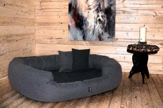 Orthopädisches Hundebett BALOU VISCO PLUS XL 110 cm Polyester Schwarz Graphit - XL | Schwarz-Graphit