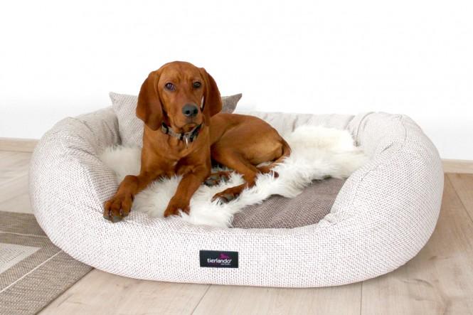 Orthopädisches Hundebett BALOU VISCO PLUS XL 110 cm Polyester Beige Creme XL | Beige-Creme